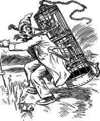 François Dubé aux prises avec « La Corriveau » Illustration d'Henri Julien (1852-1908) parue dans Philippe Aubert de Gaspé, Les Anciens Canadiens, Montréal, Librairie Beauchemin, 1916, p. 171. Domaine public.